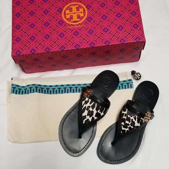 7fbf1ff01 NIB Tory Burch Eloise Flat Thong Sandal